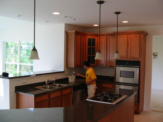 Gourmet Kitchen Interiors With Upgraded Cabinets and Appliances
