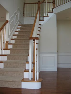 032 Oak Stair With Oak Rail And Volute